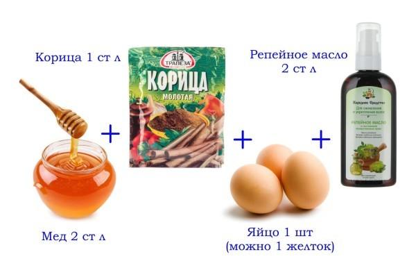 Медовая маска с корицей, яйцом и маслом
