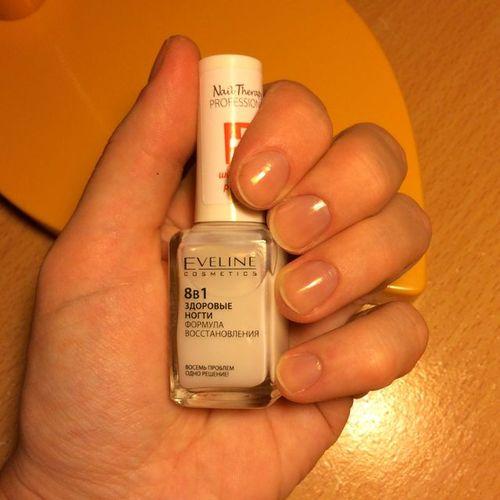 Лечебный лак для ногтей Eveline