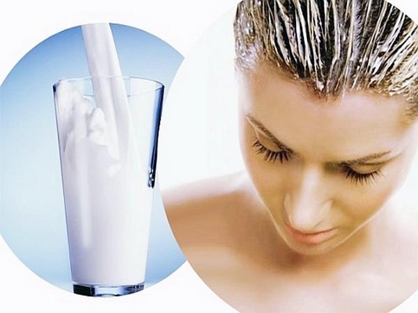 Сливочно-кефирная маска для посеченных волос