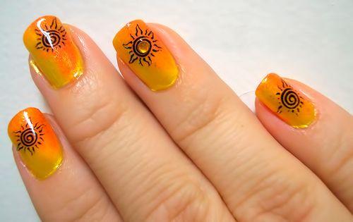 Простые рисунки на ногтях иголкой в домашних условиях