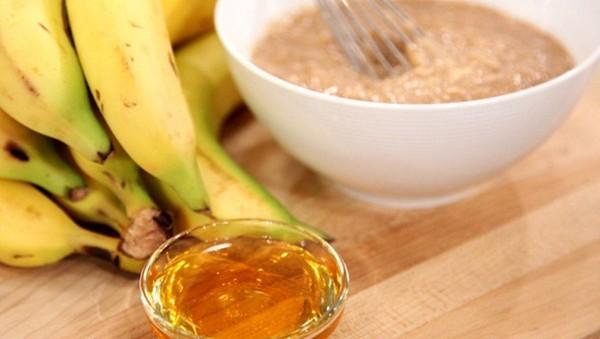 Мед и банан для маски