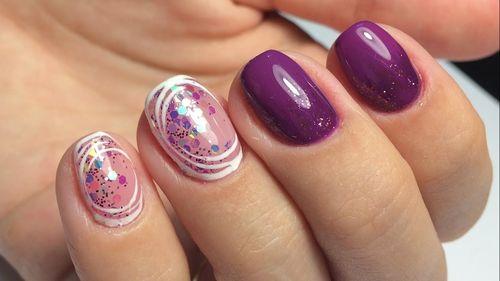Обзор стильных вариантов пайеток на ногтях