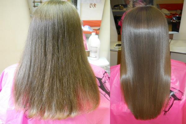 как осуществляется выпрямление волос кератином в домашних условиях