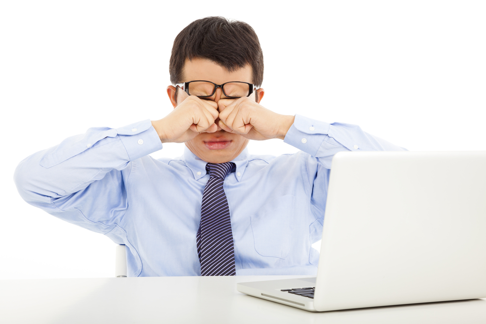 Капли снижает уровень напряжения глаз