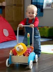 Устойчивая игрушка на колесах для развития ребенка в 1 год и 4 месяца