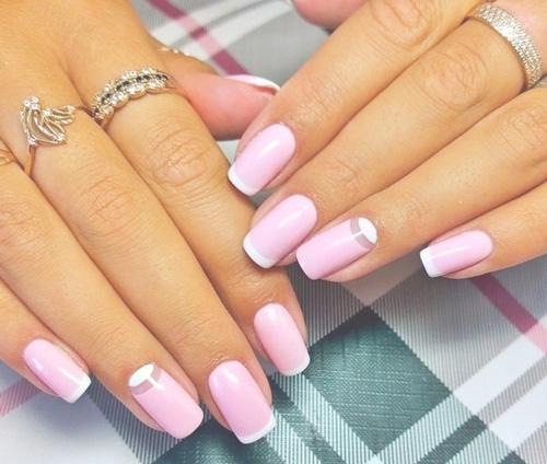 Розовый френч