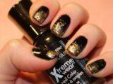 Шеллак черный с золотом