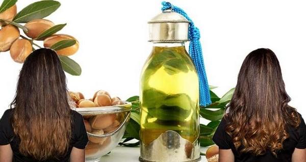 Маска для волос с аргановым маслом до и после