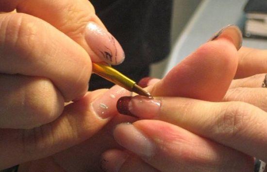 Коррекция ногтей со снятием лака