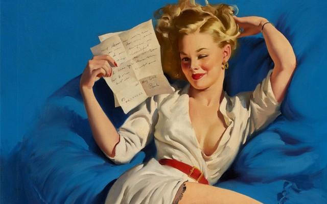 женщина с письмом