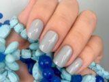 Создаем дизайн ногтей серым шеллаком