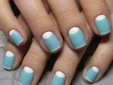 Делаем маникюр голубым шеллаком: варианты дизайна ногтей