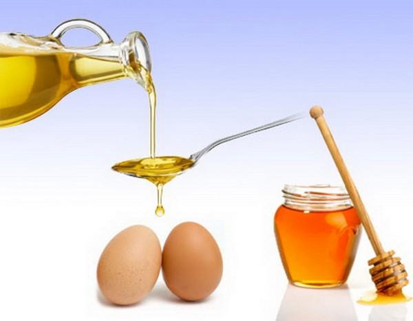Оливковое масло, яйца и мед