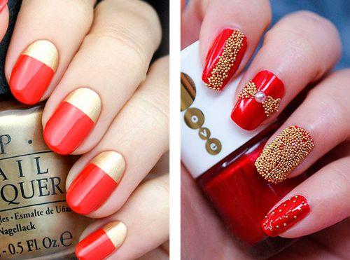 Сочетание красного с золотом