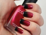 Как красиво сделать шеллак красный с черным