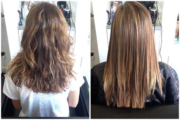 преимущества бразильского выпрямления волос Brazilian Blowout