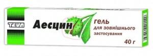 Аэсцин-гель