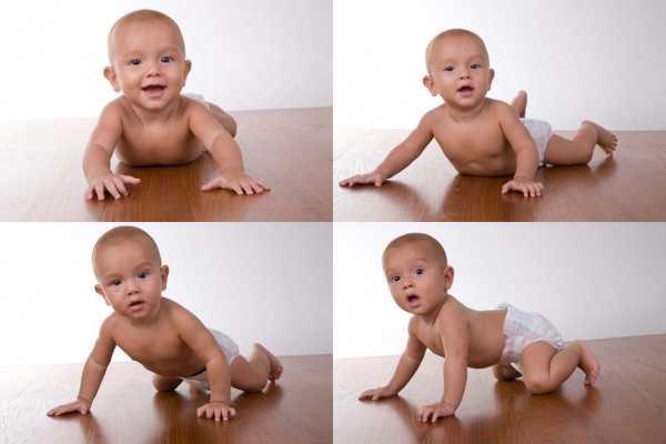 Ребенк в 8 месяцев начинает ползать