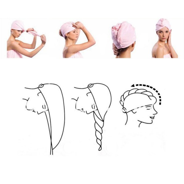 Схема нанесения масла на волосы