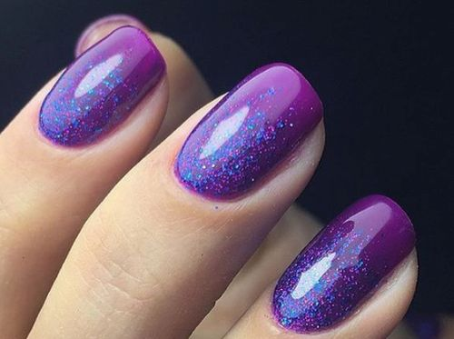 Фиолетовый лак с синим микроблеском