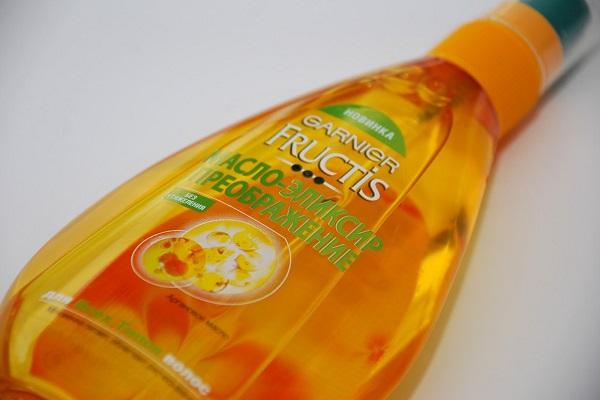 как выглядит масло для волос Гарньер Фруктис