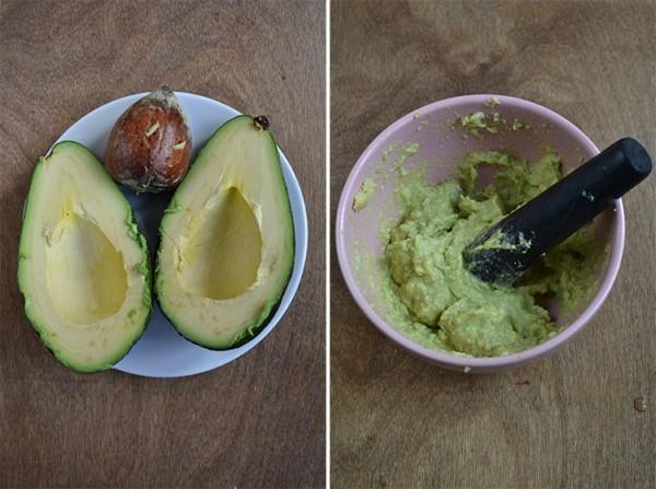 Разрезаный авокадо