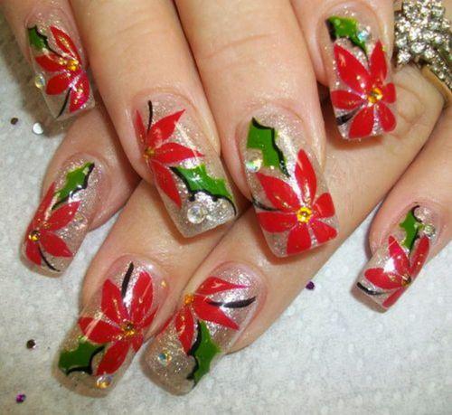 Дизайн маникюра ногтей с рисунками цветов