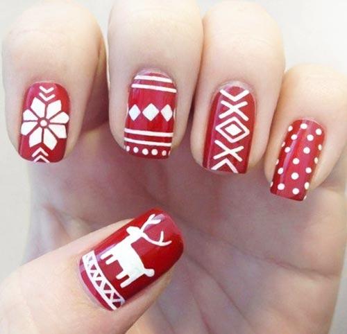Модный дизайн зимнего гель-лака на ногти