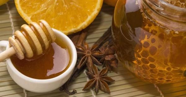 Мед, апельсин, корица