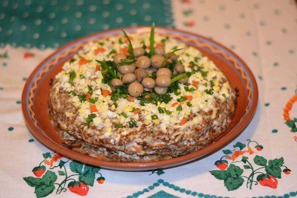 Рецепты вкусного печёночного торта из куриной печени