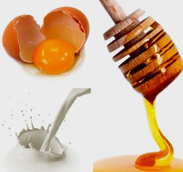 Мед, молоко и желток
