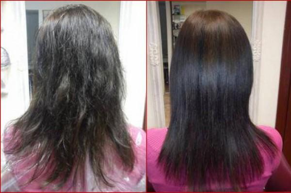 Больные и здоровые волосы
