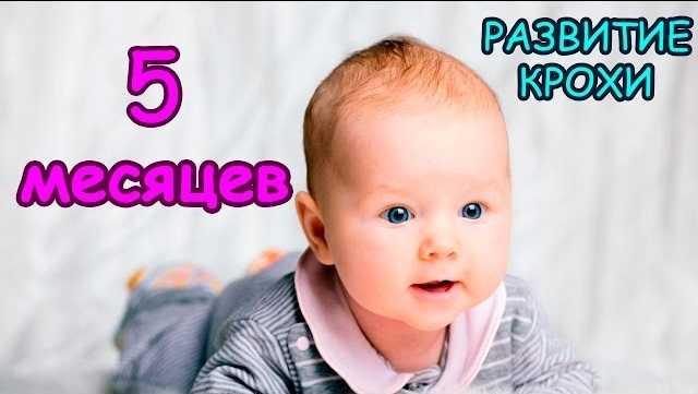развитие ребенка в 5 месяцев жизни