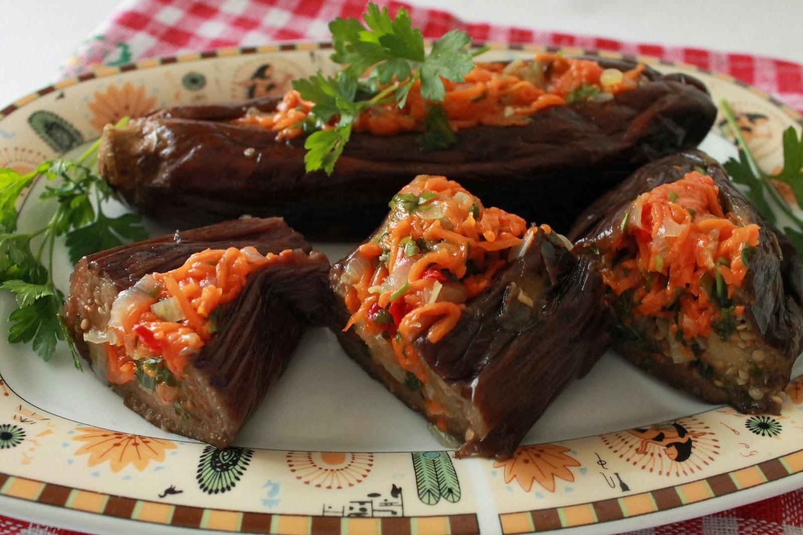 Рецепты квашенных баклажаны с морковью и чесноком
