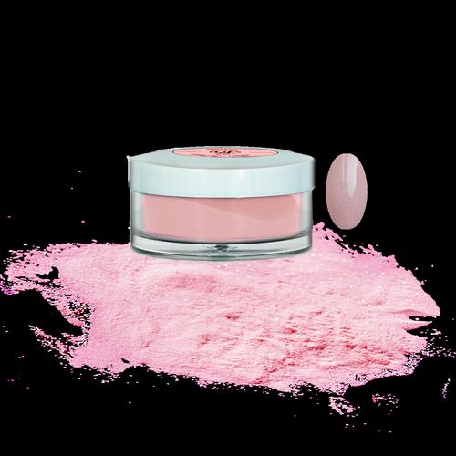 Акриловая пудра розового цвета