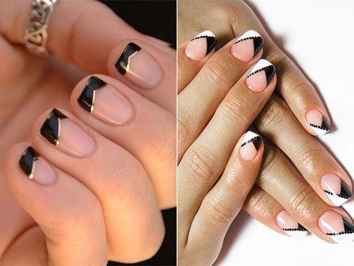 Дизайн ногтей гель лаком с полосками