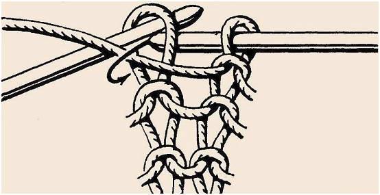 Вязани спицами - петля бабушки