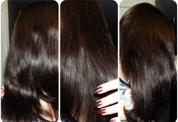 Темные длинные волосы