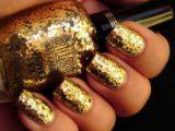 Как правильно наносить золотой шеллак: особенности дизайна