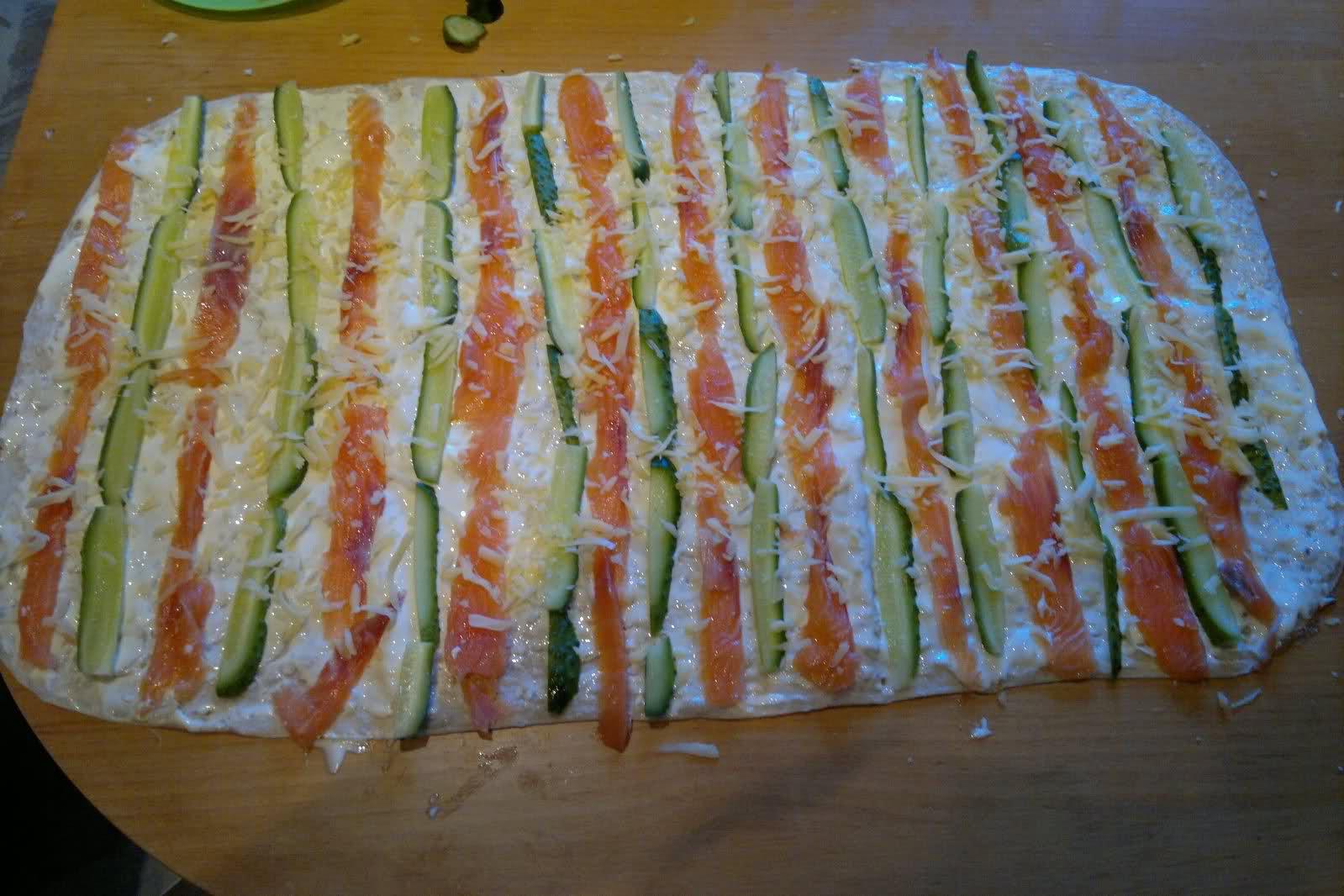 Самые вкусные рецепты лаваша с красной рыбой