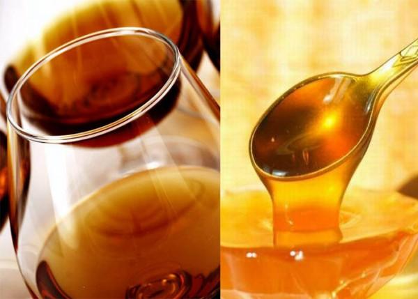 Маска с коньяком и мёдом