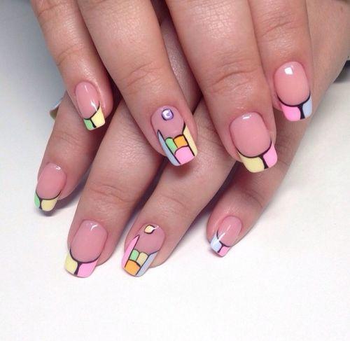 Как сделать маникюр с геометрией на ногтях