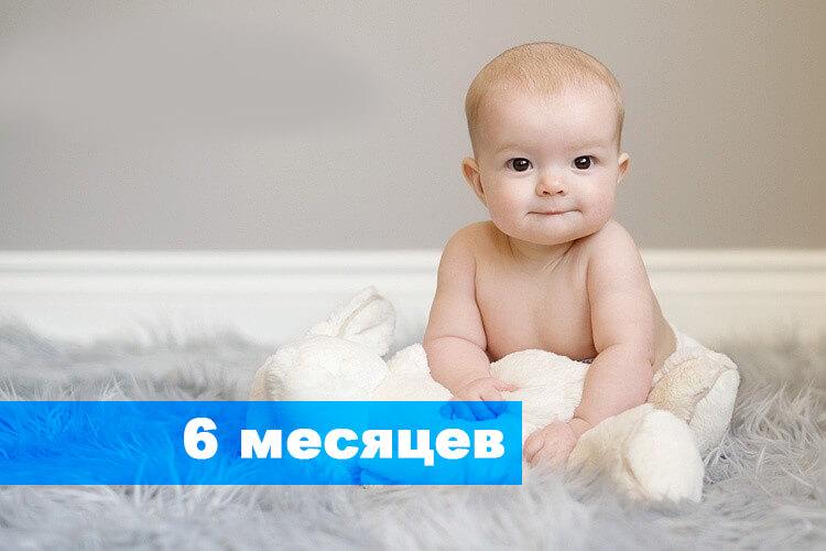 Развитие ребенка в 6 месяцев что должен уметь